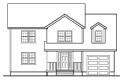 Colonial House Plan 1,838 sf